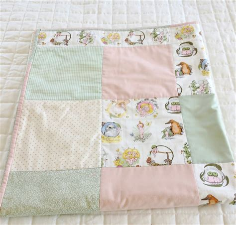 Pink Cot Quilt by Pink Green Quot Gumnut Babies Quot Cot Quilt Modern Patchwork