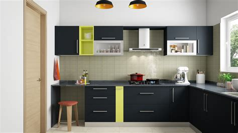 pop theme  shaped modular kitchen india homelane