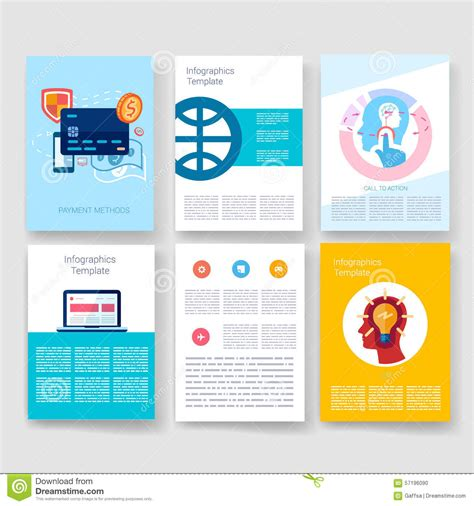 Templates Design Set Of Web Mail Brochures Stock Vector Image 57196090 Mail App Templates