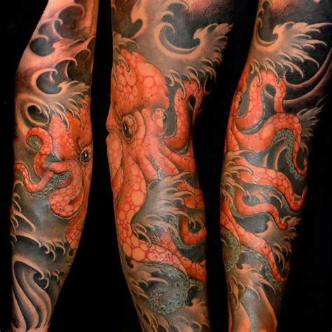 octopus sleeve tattoo best 25 octopus sleeve ideas on kraken