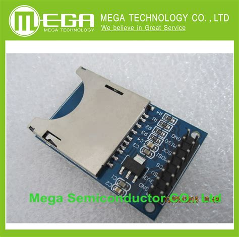 integrated circuit memory cards reading and writing module sd card module slot socket reader arm mcu in integrated circuits from