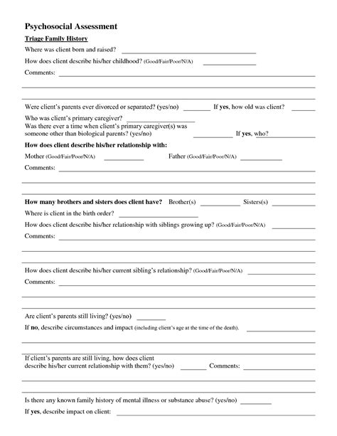 social work psychosocial assessment template best photos of social work psychosocial assessment exle