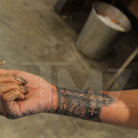rihanna s wrist tattoo photo 10 tmz com