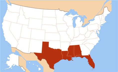 How Many In Florida Ha E Mba S by File Us Map Gulf Coast Svg Wikimedia Commons