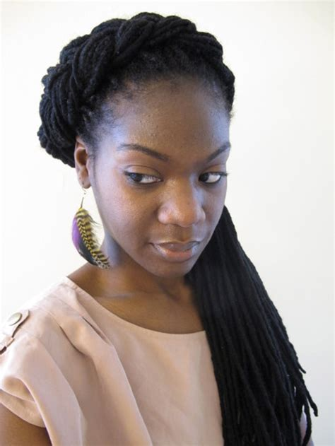 braided extenions hairstyles curly twisted and partial braided hairstyles for black women