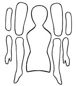 Blank Paper Doll Template by Ekduncan My Fanciful Muse Articulated Paper Dolls