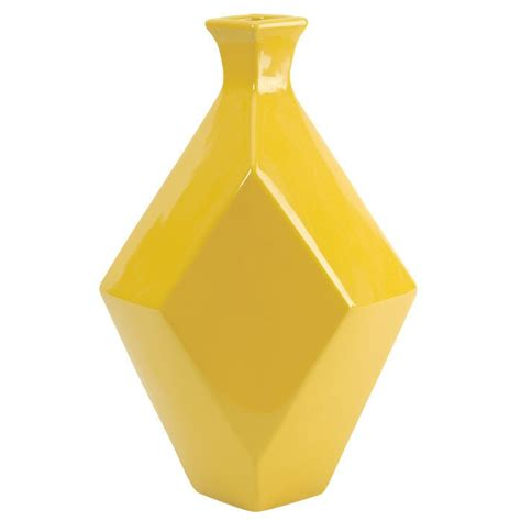 Geometric Vase by Geometric Yellow Vase Our Home Ideas