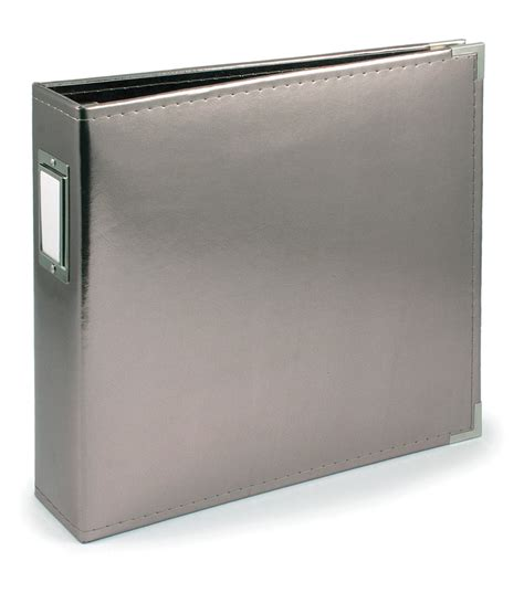 Carla Craft Ring Binding System 12 Hi Store we r faux leather 3 ring binder 12 quot x12 quot platinum at joann