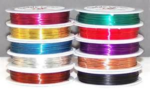 22 colored beading wire