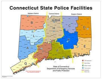 connecticut state map file ct csp troop map jpg
