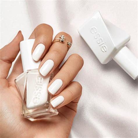 Tumblr Nails With White Gold Rings | nail polish tumblr nail art nails white nails essie