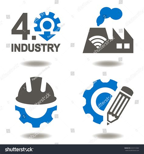 the goal is industry 4 0 technologies and trends of the fourth industrial revolution books industry 40 vector icon set industrial stock vector