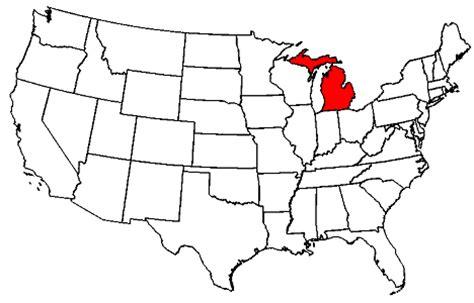 map of usa showing michigan state michigan maps map of michigan