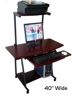 Computer Desk 35 Inches Wide by S40 40 Quot Computer Desk With Tower Printer Shelf