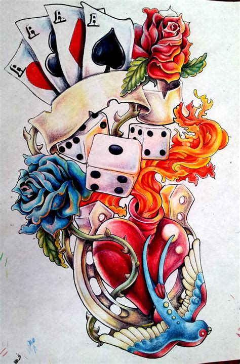 lucky 7 tattoo designs lucky design by jawbone ashtray on deviantart