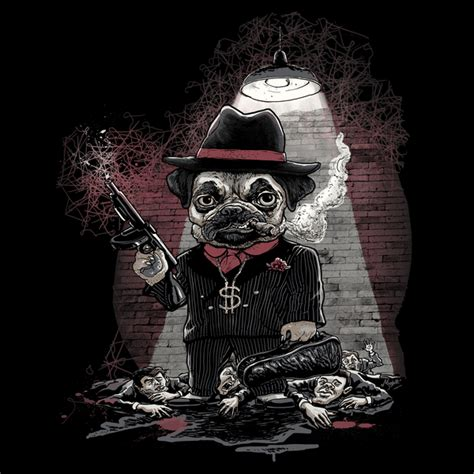 gangster pug pugsy beagle pug king of gangster underworld one dangerous neatorama