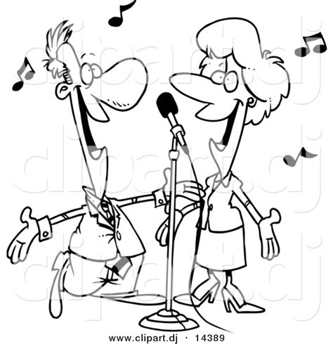 coloring book instrumental vector clipart of a singing coloring page