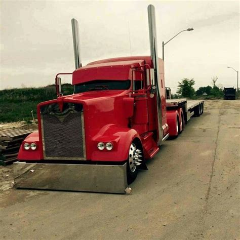 kenworth bed kenworth w900 flat bed rigs pinterest flat bed