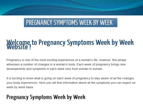 I Mentioned Earlier In The Week That I Would Write by Early Pregnancy Symptoms Week 1