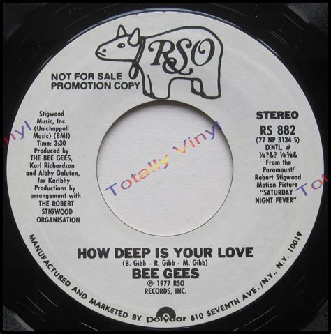 bee gees how deep is your love totally vinyl records bee gees the how deep is your