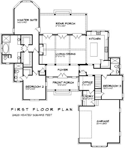 3 Bedroom Floor Plans With Bonus Room | 656061 beautiful 3 bedroom 3 bath french plan with open