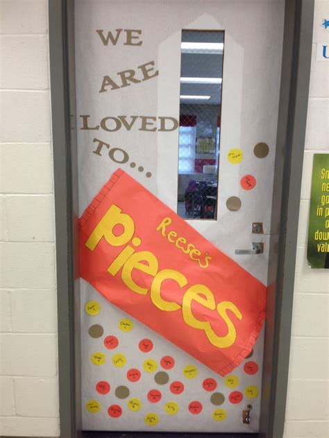 we are loved to pieces reese s pieces classroom door