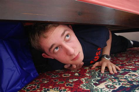 hiding under bed 074 365 hiding under the bed flickr photo sharing