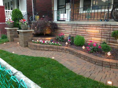 brick raised flower beds interesting ideas for home