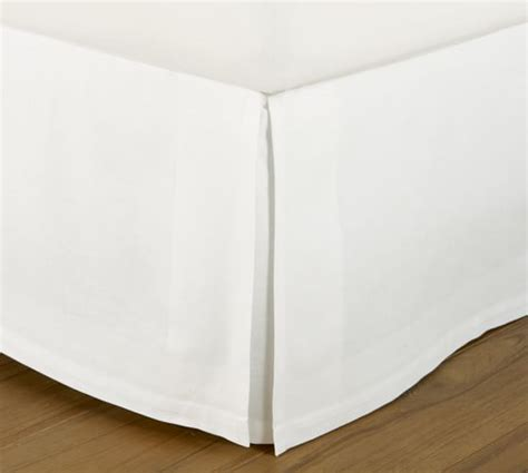 low profile bed skirt pb essential bed skirt pottery barn
