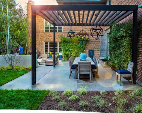 steel frame pergola mid century modern renovation contemporary patio denver by elevate by design