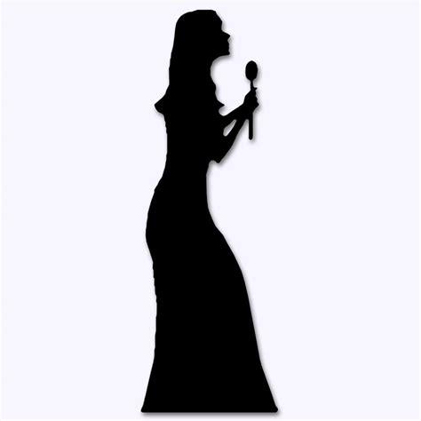 Black Tree Shower Curtain - stand up singer silhouette 1 75m peeks