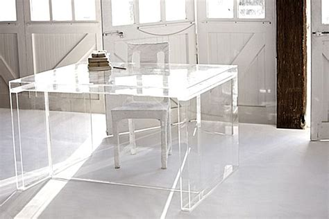 acrylic home office desks for a clearly fabulous work
