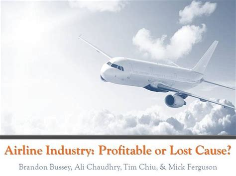Airline Industry Authorstream Airline Ppt Template