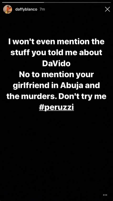 Peruzzi Raped And Collected N15Million From Me – Daffy