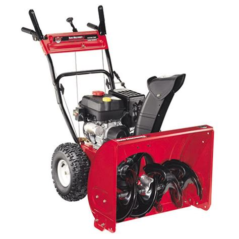 yard machines 26 in 208cc 2 stage electric start gas snow