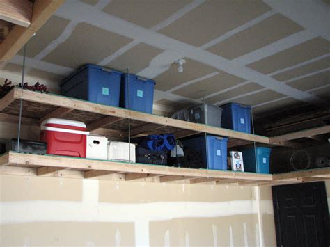 Garage Hanging Shelves by Furniture Overhead Garage Solution With Metal Shelf
