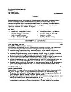 officer resume template peace officer resume template premium resume sles
