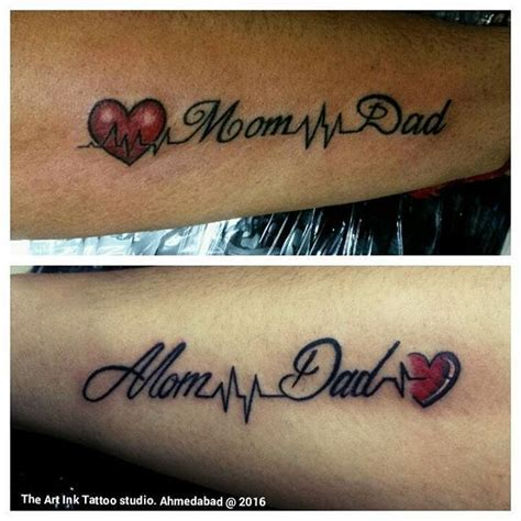 small mom and dad tattoos tattoos and