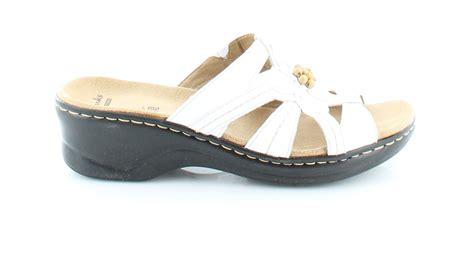 size 9 slippers womens clarks myrtle white womens shoes size 9 n sandals