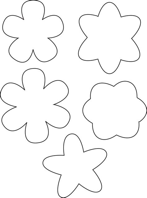 easy flower template simple flower template free