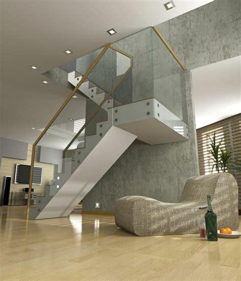 barandillas para escaleras interiores modernas barandillas vidrio y otros materiales 50 escaleras de