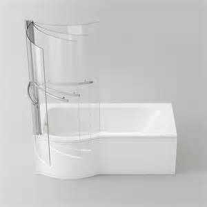 P Shaped Bath And Shower Screen Coventry Bathrooms 187 Sirona P Shaped Shower Bath With