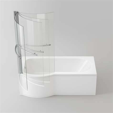 p shaped shower bath coventry bathrooms 187 sirona p shaped shower bath with screen and towel rail