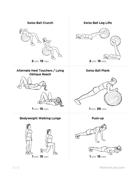 printable exercise ball workouts for beginners full body swiss ball workout for men women 2 staying