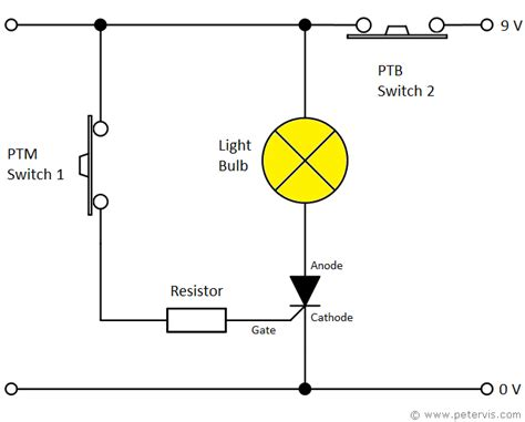 circuit diagram of a torch thyristor torch circuit using ptb switch