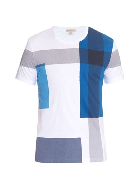 shirts for burberry brit alderstone checked t shirt in blue for