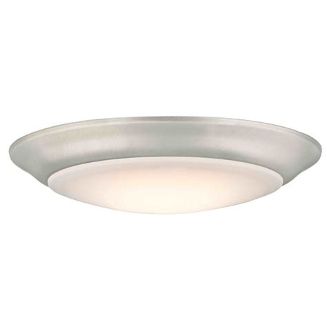 Low Profile Led Ceiling Light Convertible Led Low Profile Flush Mount Ceiling Light Satin Nickel Dfr615 927 09 2700k 90cri
