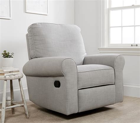 small swivel glider chair small comfort swivel glider recliner pottery barn