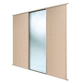spacepro 3 door sliding wardrobe doors maple mirror 2692