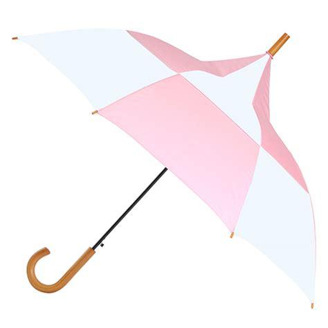 Big Top 'Ella' Ladies pink and white pagoda pointed umbrella